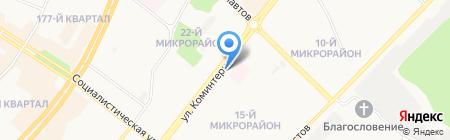 Информен на карте Ангарска