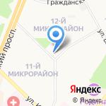 Хмельной треугольник на карте Ангарска