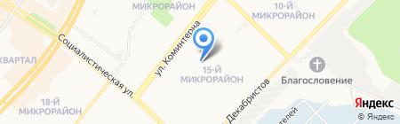 Средняя общеобразовательная школа №29 на карте Ангарска
