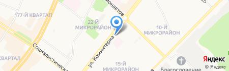 Декор на карте Ангарска