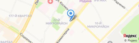 Мебелевич на карте Ангарска