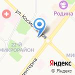 Магазин одежды на карте Ангарска