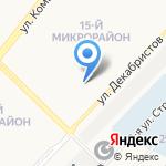 Детский сад №107 на карте Ангарска
