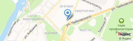 Солнышко на карте Ангарска