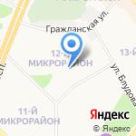 Детский сад №96 на карте Ангарска