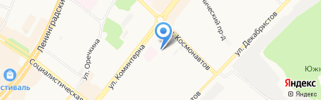 Славянский на карте Ангарска