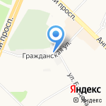 Комэкс на карте Ангарска