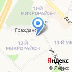 Росинка на карте Ангарска