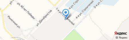 Автосервис на ул. 254-й квартал на карте Ангарска