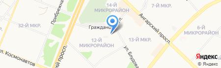 Почтовое отделение №26 на карте Ангарска