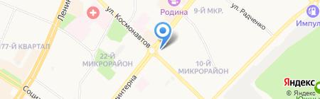 Сема на карте Ангарска