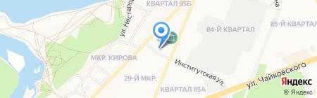Оливка на карте Ангарска