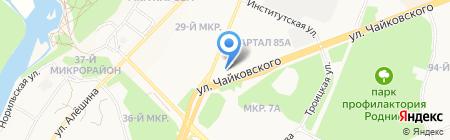 Ивановский текстиль на карте Ангарска