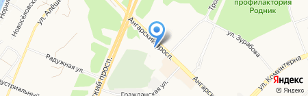 АЗС КрайсНефть на карте Ангарска