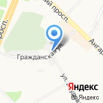 Ангарские электрические сети на карте Ангарска