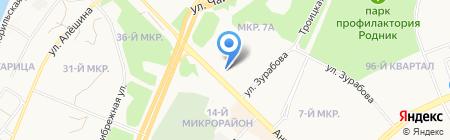 Сателлит на карте Ангарска