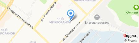 Малинка на карте Ангарска