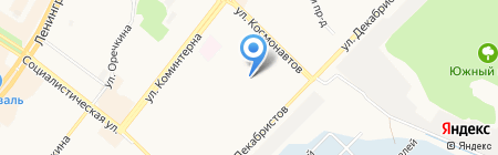 Эпицентр на карте Ангарска