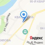 Кировский на карте Ангарска