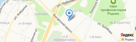 Банкомат Райффайзенбанк на карте Ангарска