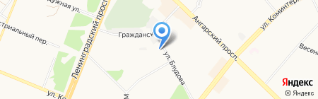 Кедровка на карте Ангарска