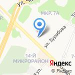 Жилком на карте Ангарска