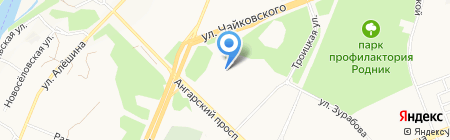 Ангарское управление строительства на карте Ангарска