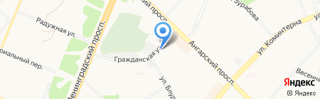 Шелл на карте Ангарска