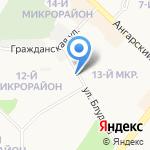 Радужный на карте Ангарска
