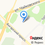 Счастливчик на карте Ангарска