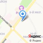 Сибиряк на карте Ангарска