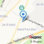 Антрик на карте Ангарска