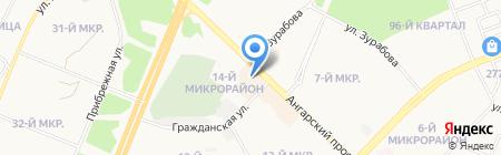 Автокомплекс на карте Ангарска