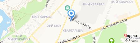 Столовая на карте Ангарска