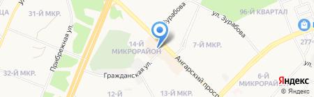 Барс на карте Ангарска