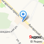 Эмери на карте Ангарска