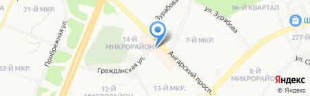 Изумрудный город на карте Ангарска