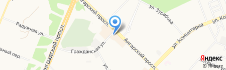 Арбат на карте Ангарска