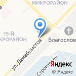 Жигули на карте Ангарска