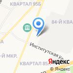 Автостоянка Ангарского почтамта на карте Ангарска