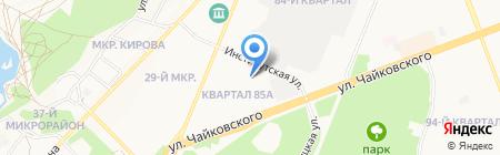 Общежитие на карте Ангарска
