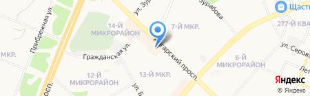 Народный на карте Ангарска
