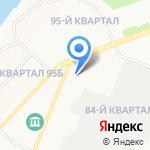 Позная на карте Ангарска