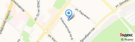 Средняя общеобразовательная школа №35 на карте Ангарска
