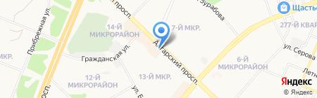 Дом цветов на карте Ангарска