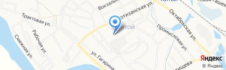Почтовое отделение №52 на карте Ангарска