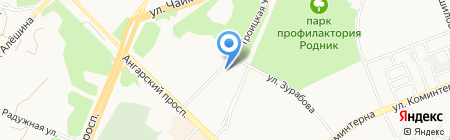 Лен на карте Ангарска