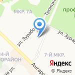 Детский сад №54 на карте Ангарска