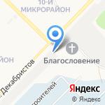 Тепличный на карте Ангарска