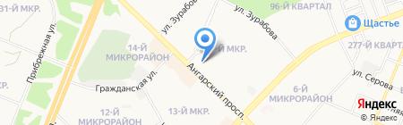 Сбербанк России на карте Ангарска